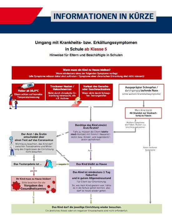 Infografik Schule ab Klasse 5 Corona Hamburg